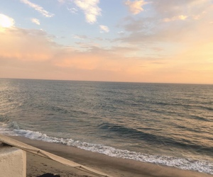 beach, sunset, and aesthetic image