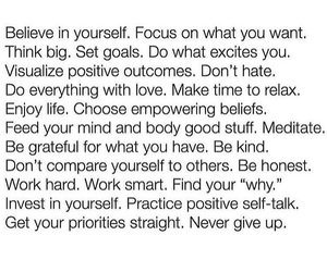 focus, personal, and positive image