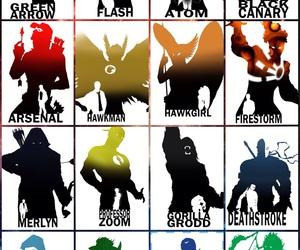 flash, villains, and heros image