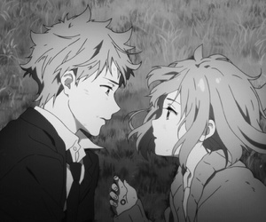anime, couple, and kyoukai no kanata image
