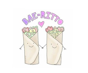 food, bae, and burrito image