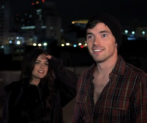 lucian, lucy hale, and ian harding image