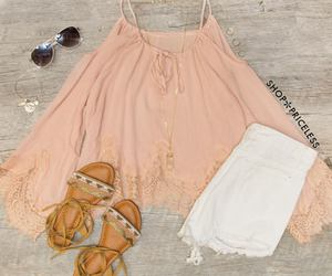fashion, outfit, and sandals image