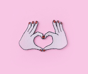 pink, background, and heart image