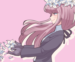 detective, flowers, and danganronpa image