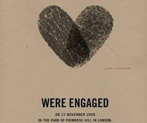 engaged, heart, and wedding image