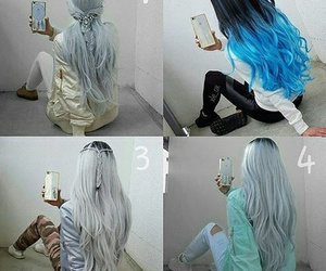 blue, blue hair, and dye image