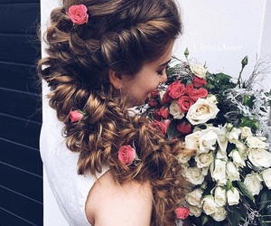 beauty, wedding, and hair image
