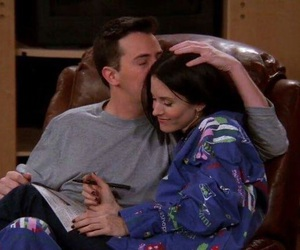 friends, couple, and monica image