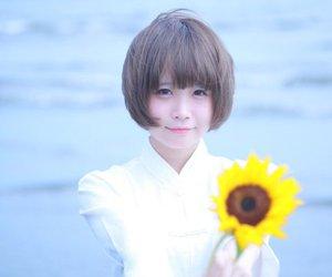 japanese girl, short hair, and azuki image