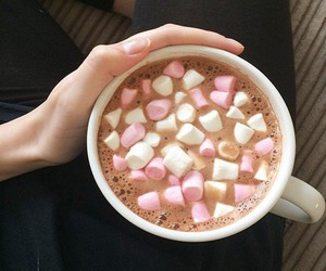 coffee, marshmallow, and sweet image