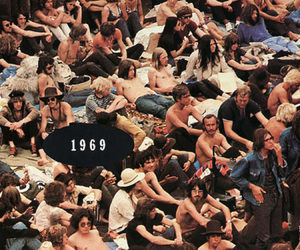 1969, woodstock, and people image