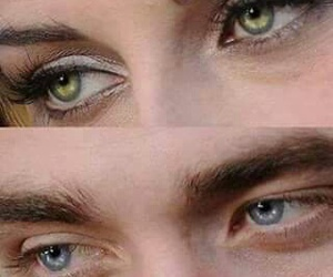 Robsten, eyes, and twilight image