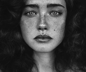 girl, photography, and freckles image