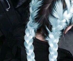 blue, blue hair, and hair image