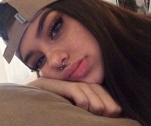 girl, tumblr, and piercing image