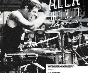 b&w, drums, and a day to remember image