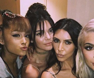 ariana grande, kendall jenner, and kylie jenner image