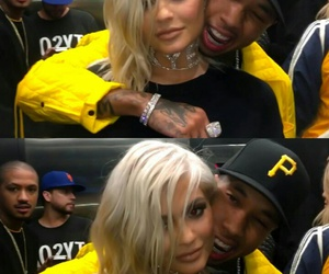 tyga, kylie jenner, and blonde image
