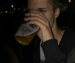 boy, grunge, and drink image