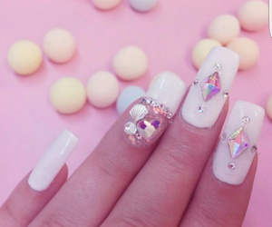 kawaii, mermaid, and nails image