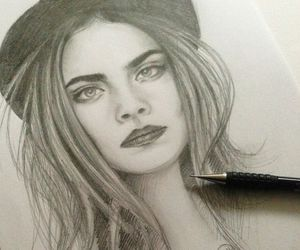 draw, girl, and cara delevingne image