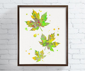 art, fall leaves, and wall decor image