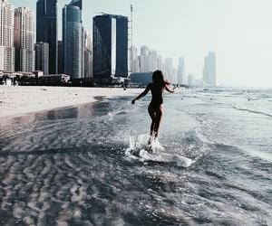 beach, bikini, and Dubai image