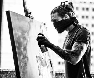 art, b&w, and black image