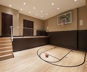 Basketball, house, and room image
