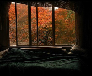 autumn, bed, and bedroom image
