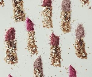 lipstick, glitter, and pink image