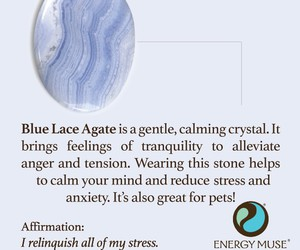 blue, crystal, and healing image