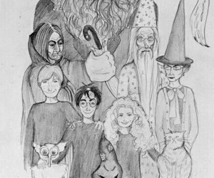 harry potter, drawing, and jk rowling image