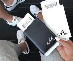 couple, adidas, and travel image
