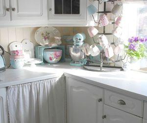 kitchen, kitchens, and vintage image