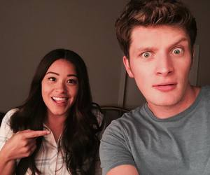 brett dier, gina rodriguez, and jane the virgin image