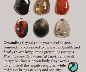 balance, crystals, and earth image