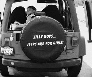 girl and jeep image