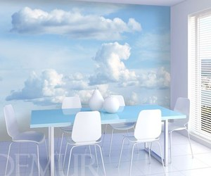 clouds, kitchen, and sky image