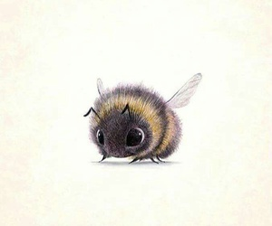 bee, cute, and drawing image