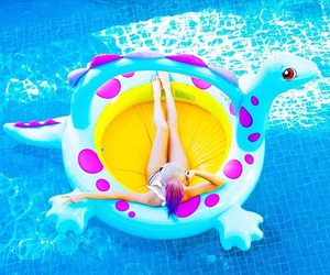 blue, pool, and wengie image