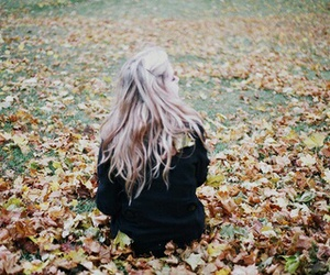 girl, leaves, and photography image