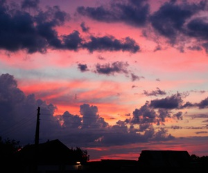 nature, pink clouds, and pink sky image