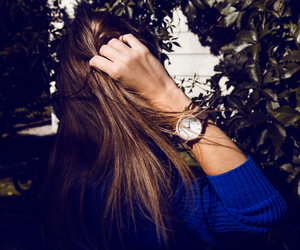 brunette, hair, and style image