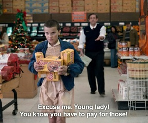 eleven, stranger things, and 80s image