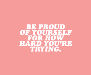quotes, pink, and proud image