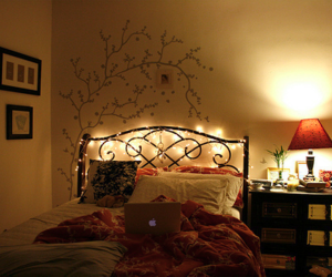 bedroom, tree, and sticker image