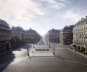 empty, paris, and streets image