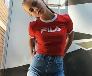 girl, Fila, and style image